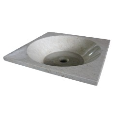 Beige Square Basin