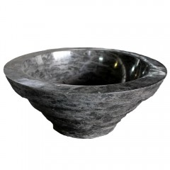 Black Round Basin With Layered Bottom